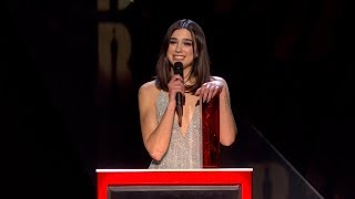 Dua Lipa wins British Female Solo Artist | The BRIT Awards 2018
