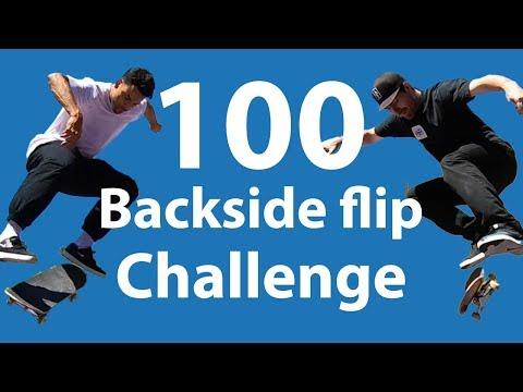 Mikemo and Prod 100 Flatground Challenge: Backside Flips
