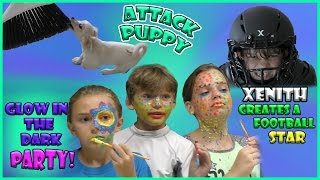 FACE PAINT PARTY, FOOTBALL, AND ATTACK OF THE PUPPY! | We Are The Davises