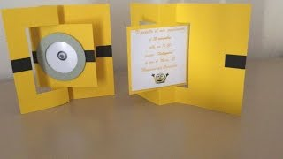 TUTORIAL INVITO MINIONS - HOW TO MAKE MINIONS INVITATION