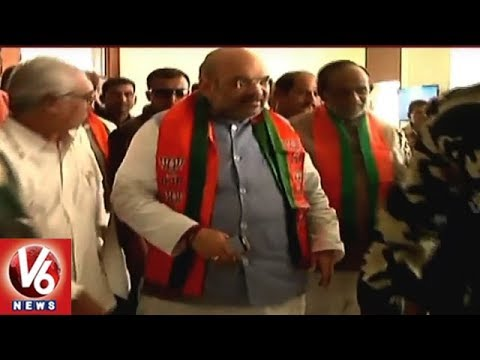 Telangana BJP Set All Arrangements For President Amit Shah Hyderabad Tour | V6 News