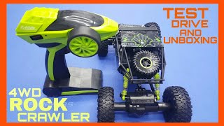 Unboxing & Test Drive 4WD Rock Crawler 1:18 Scale RC Car By ECE Makers
