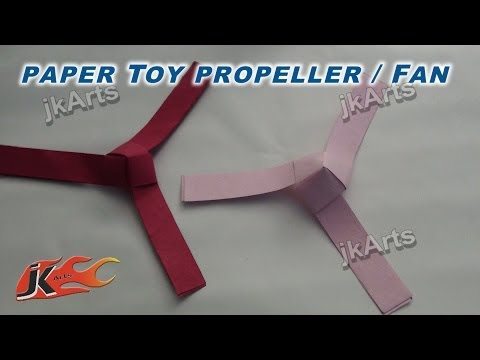 DIY How to make paper Toy Fan / propeller  (Easy craft for kids) - JK Arts 255