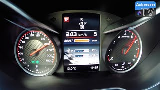 2015 Mercedes-AMG C63 S (510hp) - 0-258 km/h acceleration (1080p)