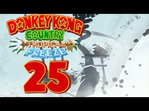 Let's Play Donkey Kong Country Tropical Freeze Part 25: Super Paper Mario Schneeflocken