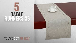 Best Table Runners 36 [2018]: Handmade Hemstitched Natural Rectangle Lace Table Runners (14x36