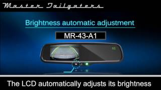 Master Tailgaters Rear View Mirror with LCD: MR-43-A1