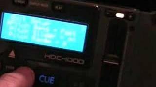 HDC-1000 Demo & Tutorial on the Set up menue