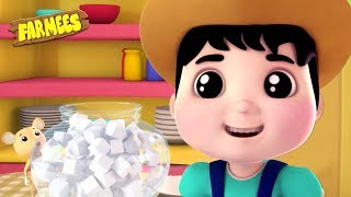 Johny Johny Yes Papa | Preschool Nursery Rhymes For Babies | Cartoons Videos - Farmees