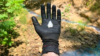 Found 5,000 Year Old Arrowhead While Arrowhead Hunting in a Creek! (w/ Girlfriends)
