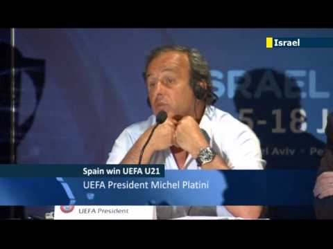 UEFA President Michel Platini in Israel: football and politics should always be kept separate