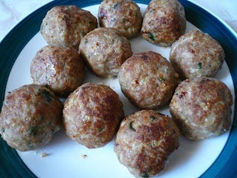 Receta de las Albondigas Italianas, para hacer pasta spaguetti