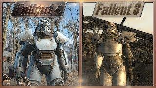 Fallout 3 vs. Fallout 4 - Power Armor Comparison