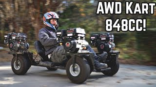 4 Engine AWD Go Kart Revival | Hard Launches!