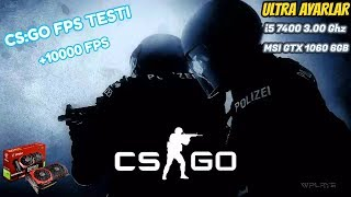 [CSGO] i5 7400 MSI GTX1060 6GB Counter Strike Global Offensive Testi