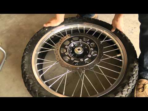 Changing the Front Tire on a 2009 KLR 650 Part 1 of 2
