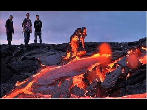 End Of Hawaii? Lava Flows To Pacific Ocean New Footage Kilauea Volcano Visible From Space