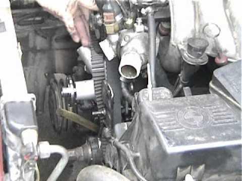 BMW 528e Waterpump and Timing Belt.wmv