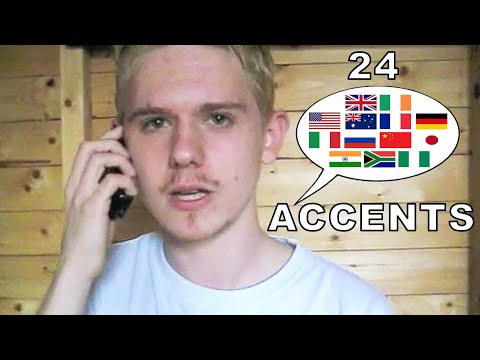 The English Language In 24 Accents Music Videos