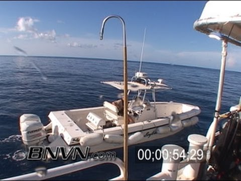 7/2/2004 Blue Water Footage, Dry Tortugas &amp; NOAA Search of Boat for random safety inspection