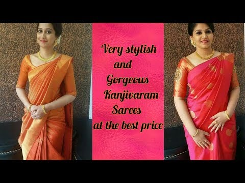 Very stylish Kanjivaram silk sarees | at the best price | Kanjivaram silk sarees designs