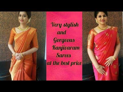 Very stylish Kanjivaram silk sarees | at the best price | Kanjivaram silk sarees designs