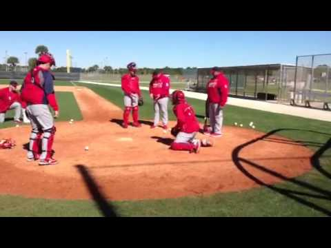 This is Cardinals Spring Training: Catchers Drills