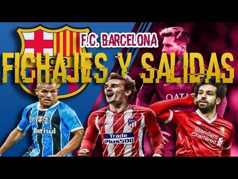 FICHAJES Y SALIDAS DE BARCELONA 2018/2019 | GRIEZMANN SALAH PJANIC thumbnail