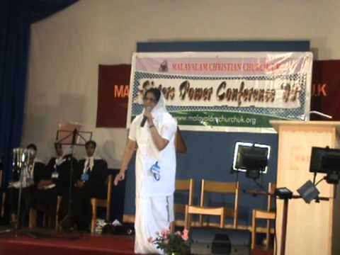 Malayalam  Message By Sr Susan Thomas !! Sisters Power Conferance  Malayalam Christian Church.wmv video