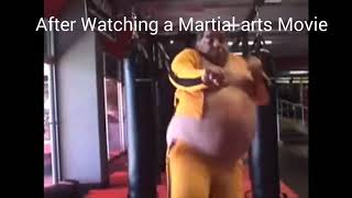 After Watching a Martial Arts Movie