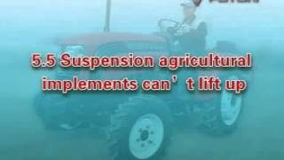 Foton tractor maintenance and operation manual - part 5