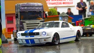 RC SCALE MODEL RACE CAR * FORD MUSTANG SHELBY GT 360 (1965) IN ACTION!!