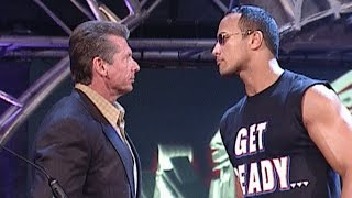 WWE Chairman Mr. McMahon drafts The Rock to SmackDown in 2002