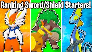 RANKING ALL 3 STARTER POKEMON IN SWORD AND SHIELD FROM WORST TO BEST!