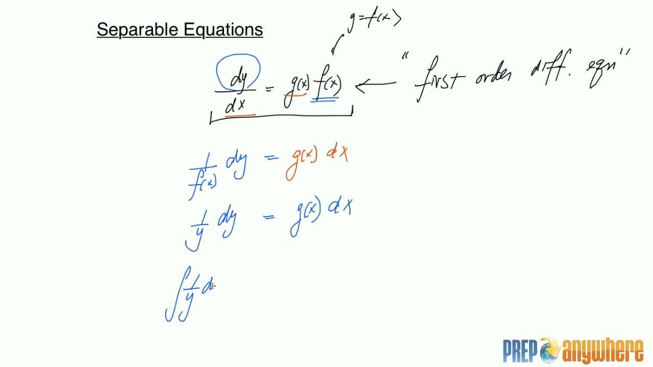 how to tell if a differential equation is separable