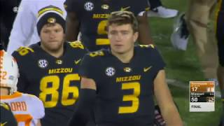 Missouri vs Tennessee NCAA Football Highlights 2017