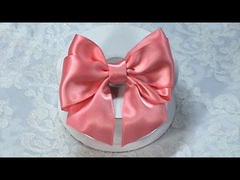Ribbon Bow, DIY, Hair Bow Tutorial, One piece Ribbon, Variant #2