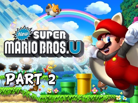 New Super Mario Bros. Wii U Walkthrough - Part 2 Pink Yoshi Let's Play WiiU Gameplay Commentary