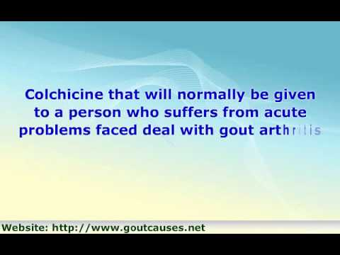 Dealing With Gout Medications