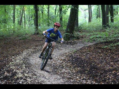 Through the trees - Biking Queen Elizabeth Park 2017