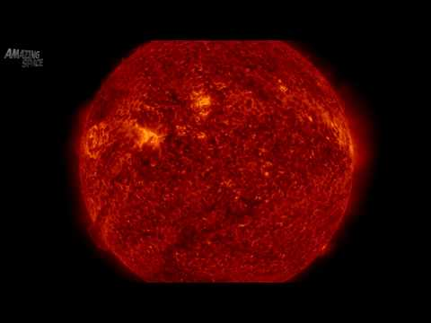 4K Video: NASA's SDO Sees Circular Outburst  / Solar Flare : CME : X-Flare etc