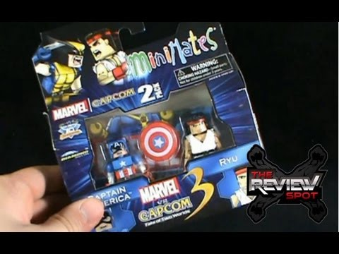 Collectible Spot - Diamond Select Toys Marvel Vs Capcom 3 Minimates Captain America and Ryu