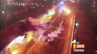 Live Footage: Teen crashed a $240,000 luxury sports Ferrari car in Moscow