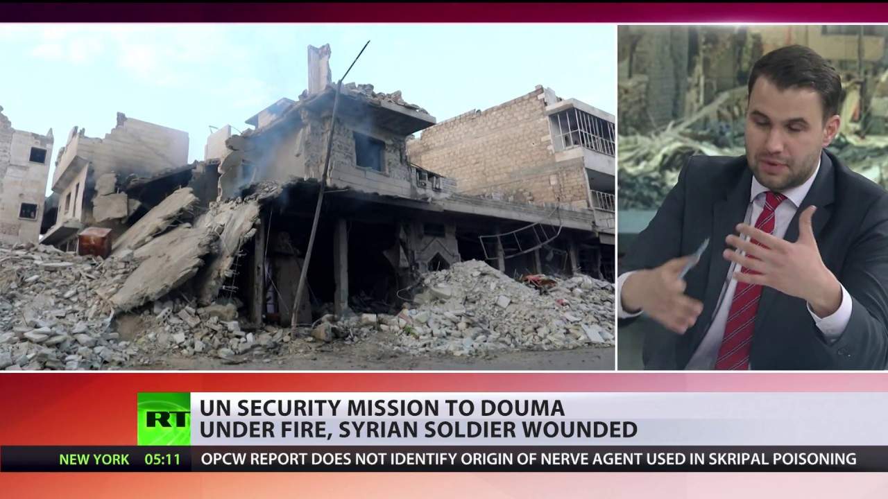 OPCW team comes under fire on 'rehearsal trip' in Douma