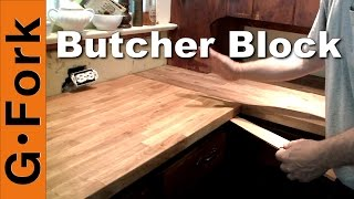 DIY Ikea Butcher Block Countertop Installation - GardenFork