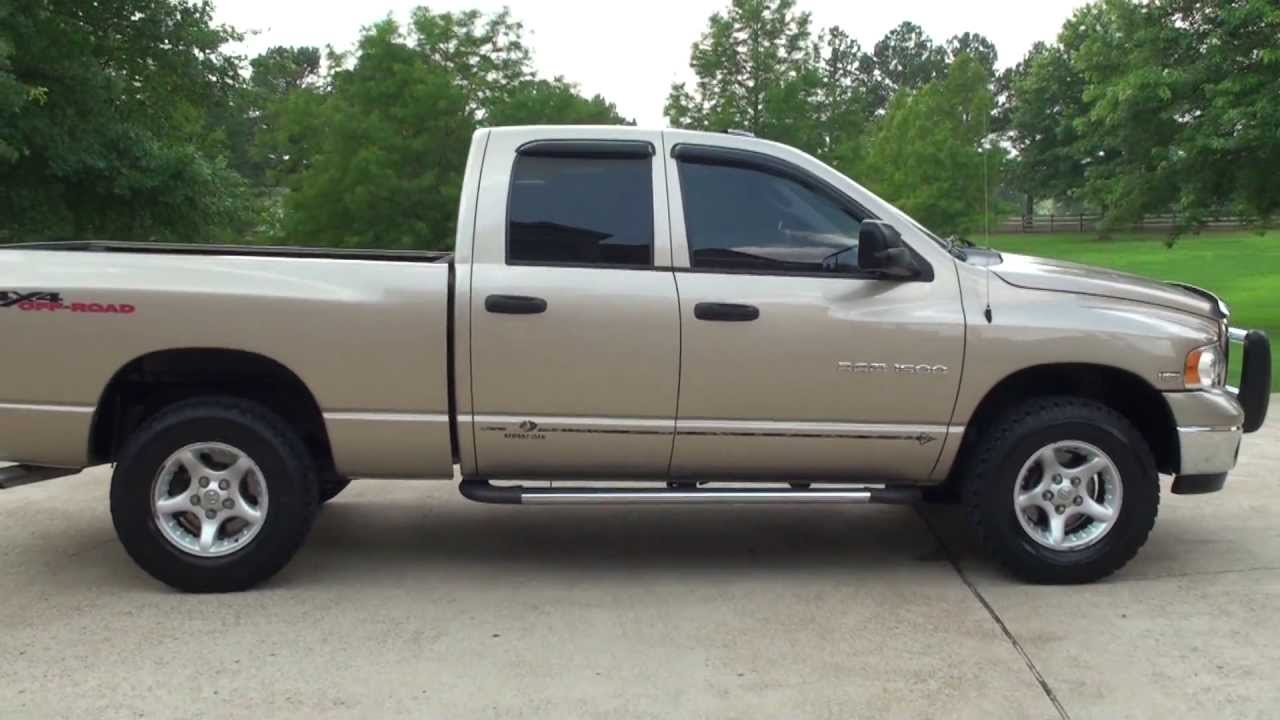 hd video 2005 dodge ram 1500 slt hemi 4x4 used truck for. Black Bedroom Furniture Sets. Home Design Ideas