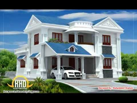 Kerala home plans feb 4 10 youtube for Home architecture photos