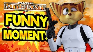 Star Wars Battlefront 2 Funny Moments Montage [FUNTAGE] #24 - Ratchet And Clank Special!