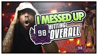 2K GAVE ME VC WHEN I MESSED UP! 98 OVERALL REACTION *NOT CLICKBAIT*   NBA 2k18 99 OVERALL GRIND