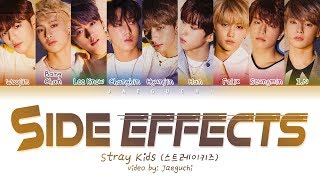 STRAY KIDS - Side Effects (부작용) (Color Coded Lyrics Eng/Rom/Han/가사)